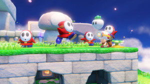 shy guys and captain toad