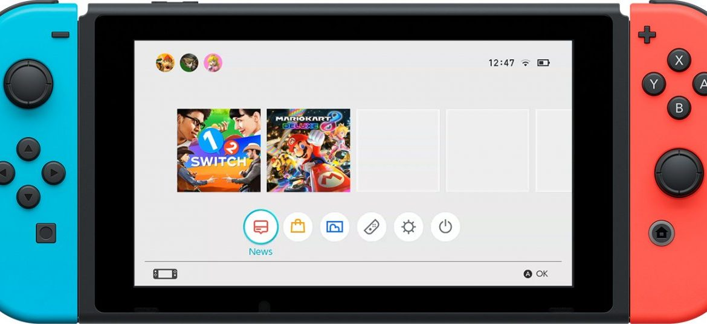 Nintendo Switch Home Screen UI Menu