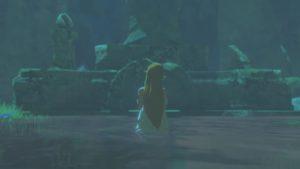 Zelda in water in The Legend of Zelda: Breath of the Wild