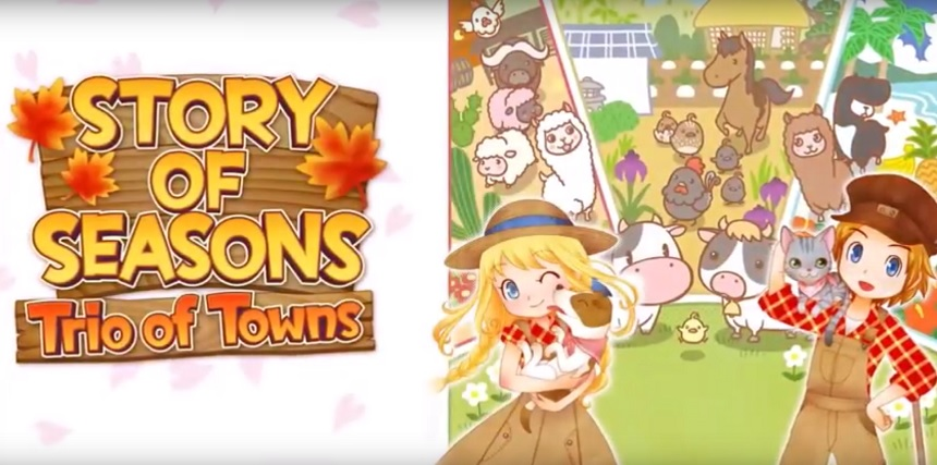 story of seasons trio of towns background