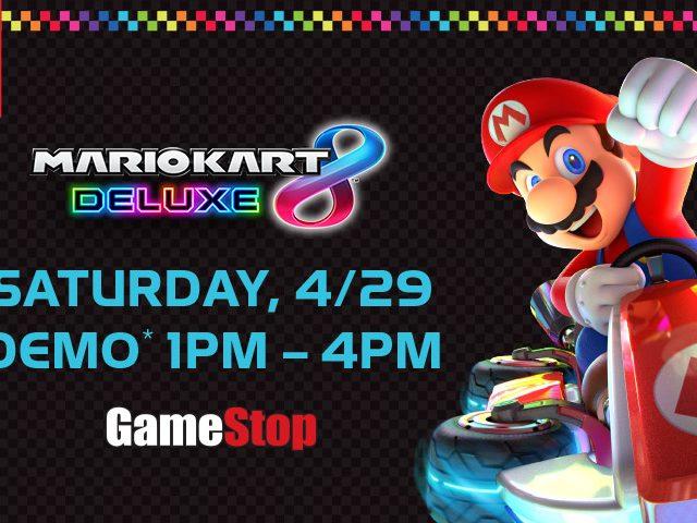 Mario Kart 8 Deluxe Demo GameStop Event
