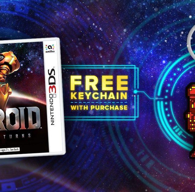 Keychain GameStop Metroid Samus Returns