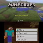 Title Screen Minecraft 3DS