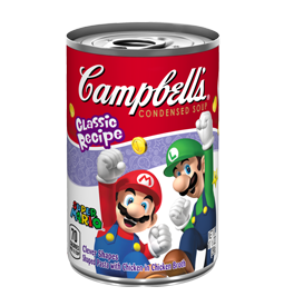 super mario soup can