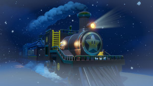captain toad on a train