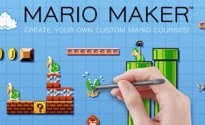 Mario Maker Wii U Beta Logo