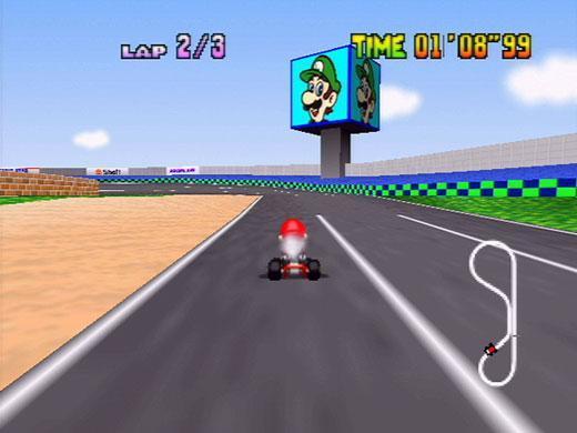 Mario Kart 64 Screenshot Of Luigi S Speedway Nintenfan