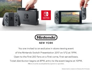 pre-order nintendo switch