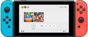 Nintendo Switch Home Screen UI Menu