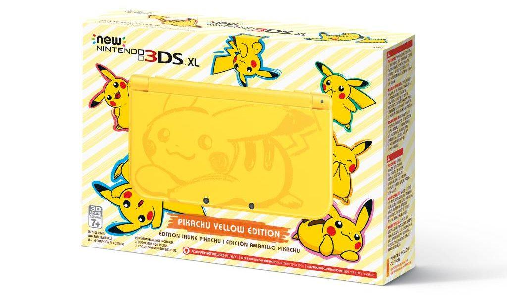 box Pikachu Yellow Edition New Nintendo 3DS XL