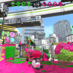 splatoon 2 green & pink team