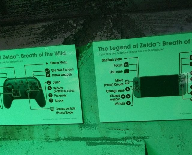 Zelda Breath of the Wild Control Schemes