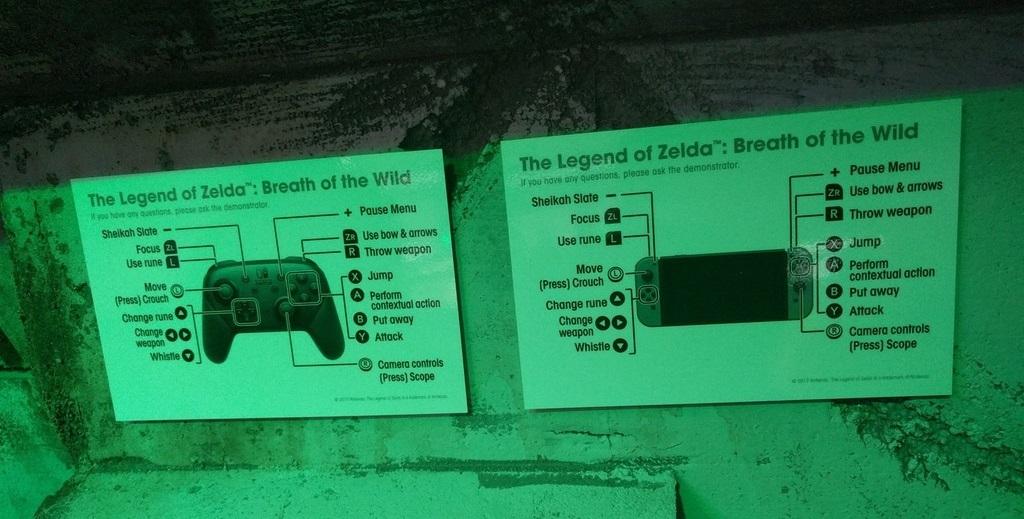 Zelda Breath of the Wild Control Schemes