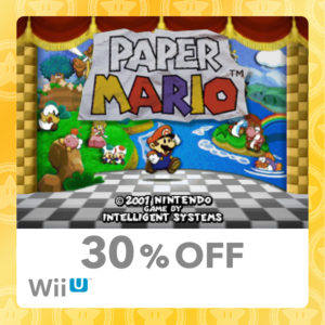 30% Discount on the original Paper Mario
