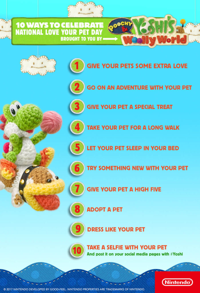 Yoshi's National Love Your Pet Day