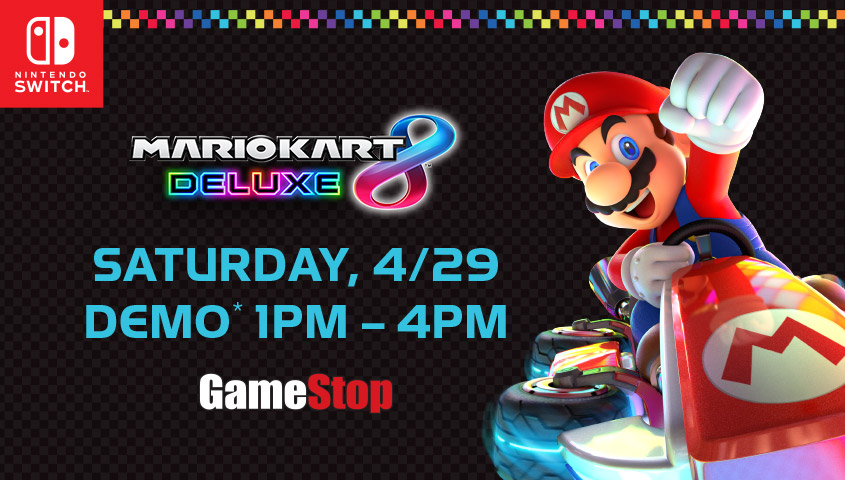 Mario Kart 8 Deluxe Demo GameStop Event