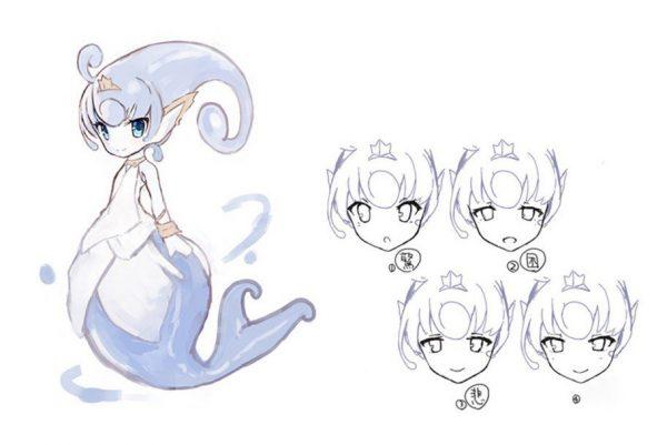 Ever Oasis Concept Art of Esna the Water Spirit Nintendo 3DS