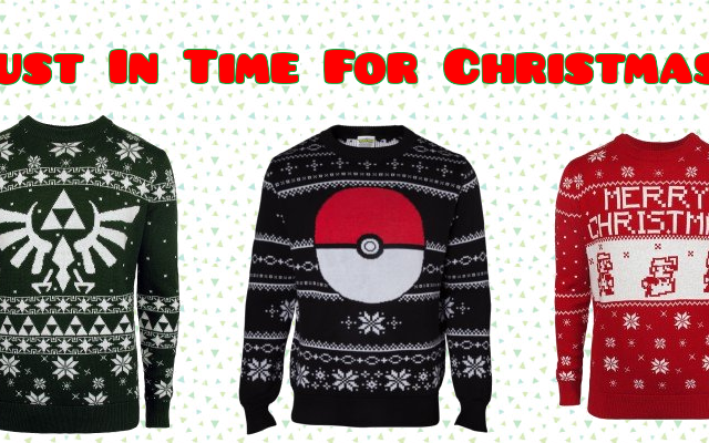 New 2017 Nintendo Christmas Sweaters