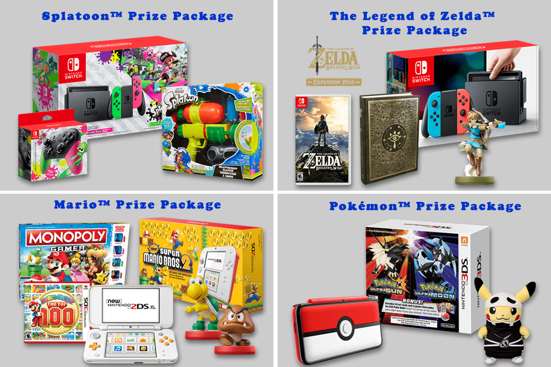 nintendo sweepstakes nintendo holiday sweepstakes prizes packages 3ds and 6844