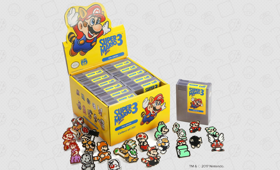 Penny Arcade Super Mario 3 Blind Box Pin Sets