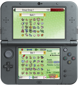 Pokemon Bank on Nintendo 3DS