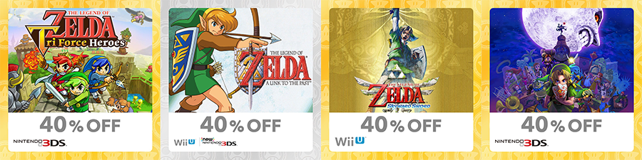 Discounted Zelda Games eShop