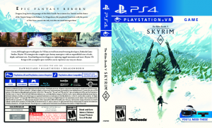 Skyrim PlayStation VR Alternate Box Art Cover PS4