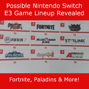 Possible List of Leaked Nintendo Switch E3 2018 Games Surfaces