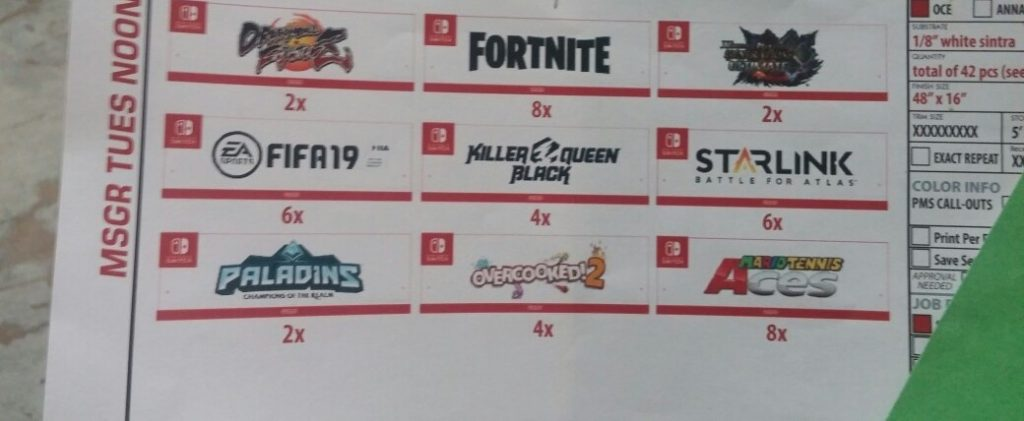 Rumored Nintendo Switch E3 2018