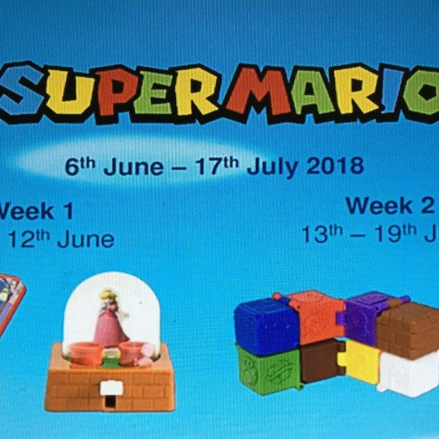 Super Mario Happy Meal Toys - UK
