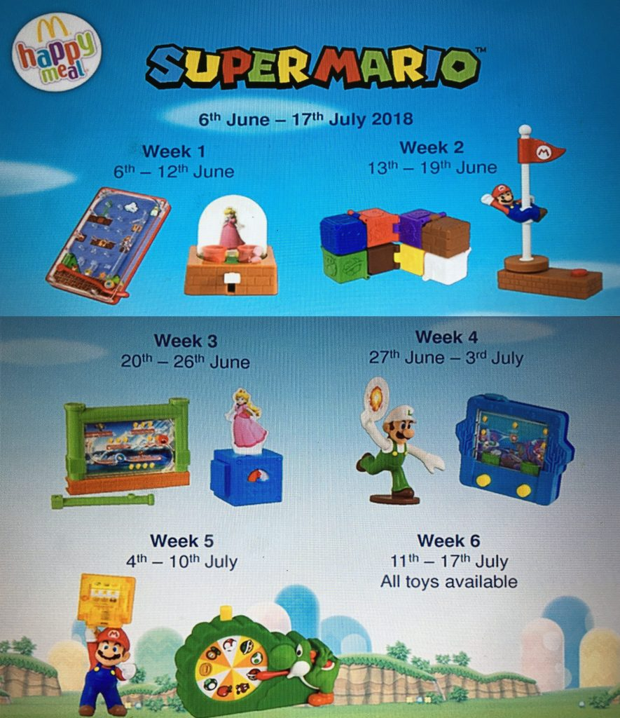 Super Mario Happy Meal Toys 2018
