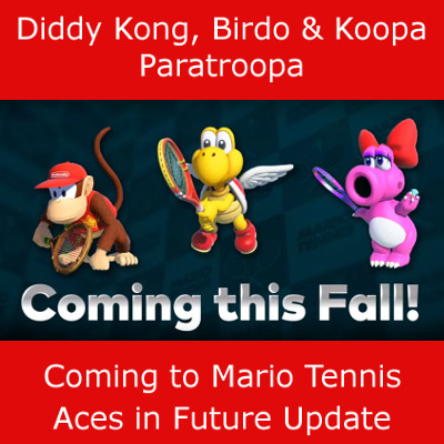 Mario Tennis Aces, Future Update News
