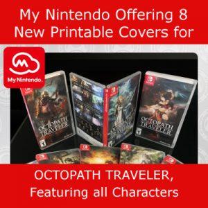My Nintendo Octopath Traveler Box Art Covers
