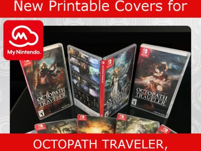 photo about Game Covers Printable identified as My Nintendo 8 Printable Box Artwork Handles for Octopath