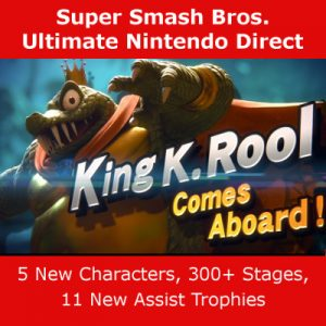 Five New Characters & 300+ Stages Confirmed for Smash Bros. Ultimate