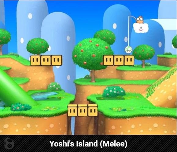 Stage, Yoshi's Island (Melee), Super Smash Bros Ultimate - Nintendo