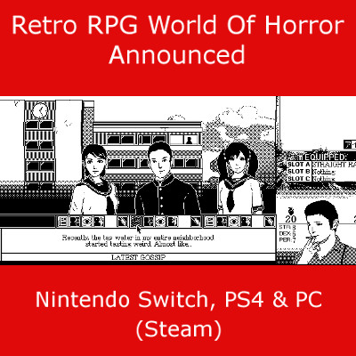 World of Horror, RPG, Switch, PS4, PC.