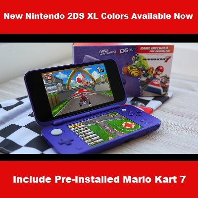 New Nintendo 2DS XL Purple Silver Available Now