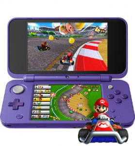 Nintendo 2DS XL Purple/Silver Color