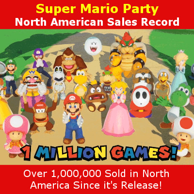 Super Mario Party 1-Million Sold