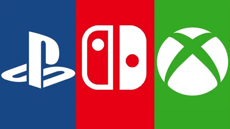 Sony, Nintendo & Microsoft Xbox Logos