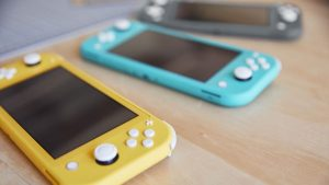 Nintendo Switch Lite, Yellow, Blue and Gray