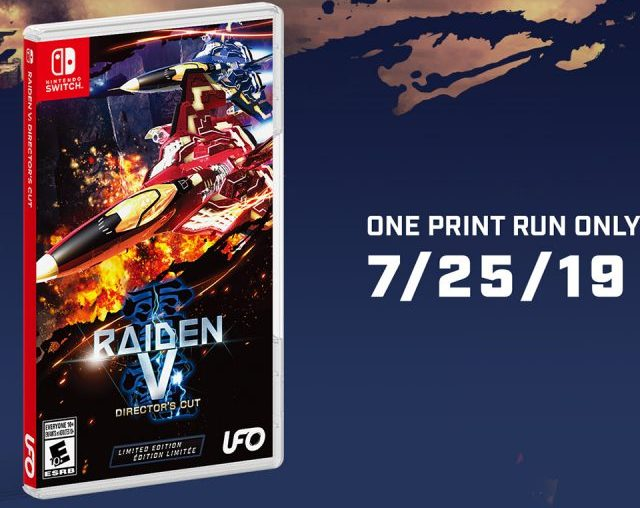 Raiden V Director's Cut Nintendo Switch Release Date